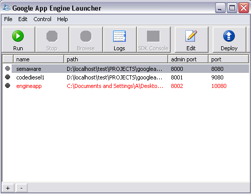 app-engine-launcher