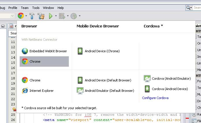 Building a Cordova mobile app with NetBeans - codediesel